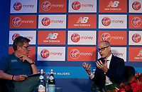 Hugh Brasher, Race Director gives a press conference at the Guoman Tower Hotel. The Virgin Money London Marathon, 24 April 2018.<br /> <br /> Photo: Paul Gregory for Virgin Money London Marathon<br /> <br /> For further information: media@londonmarathonevents.co.uk