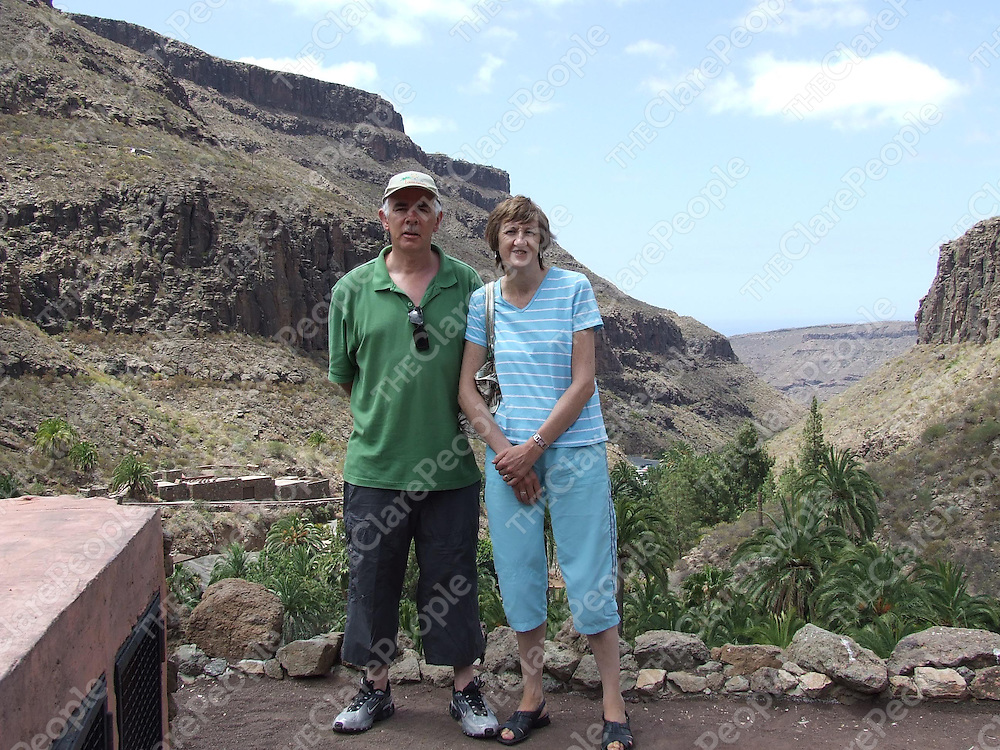 Karl Henry and his wife Ann Moriarty on holiday in the Canary Islands after she had been given the all clear in 2007.