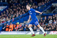 LONDON,ENGLAND - DECEMBER 05: Chelsea (27) Andreas Christensen during the UEFA Champions League group C match between Chelsea FC and Atletico Madrid at Stamford Bridge on December 5, 2017 in London, United Kingdom.  <br /> ( Photo by Sebastian Frej / MB Media )