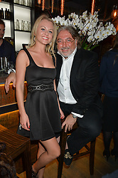MARIA PAGOLSKAYA and ROBERT TCHENGUIZ at the launch of Korean restaurant Jinjuu with chef Judy Joo at 15 Kingley Street, London on 22nd January 2015.