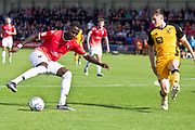 Salford City forward Mani Dieseruvwe in action during the EFL Sky Bet League 2 match between Salford City and Port Vale at Moor Lane, Salford, United Kingdom on 17 August 2019.