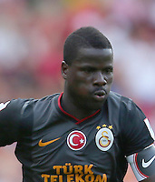 Emirates Cup Match between Arsenal and Galatasaray at Emirates Stadium in London England on August 04, 2013.<br /> Match Scored: Arsenal 1 - Galatasaray 2<br /> Pictured: Emmanuel Eboue of Galatasaray.