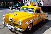 New York, New York City. Close-up of the Taco taxi.