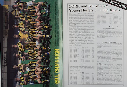 All Ireland Senior Hurling Championship Final, .04.09.1988. 09.04.1988, 4th September 1988,.4091988AISHCF,.Galway 1-15, Tipperary 0-14,.Galway v Tipperary, ..Kilkenny, Adrian Ronan, Pat O'Grady, Declan Roche, John Conlon, Jimmy Conroy, Dominic Bradley, Briain Ryan, Pat O'Neill, front row left to right, Dick Dooley, Charlie Carter, Johnny Holohan, Patsy Brophy, D J Carey, Billy O'Keeffe, P J O'Connor,
