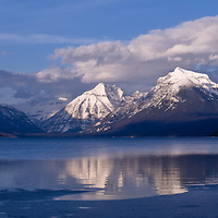 Ice thaws on lake mcdonald, GNP