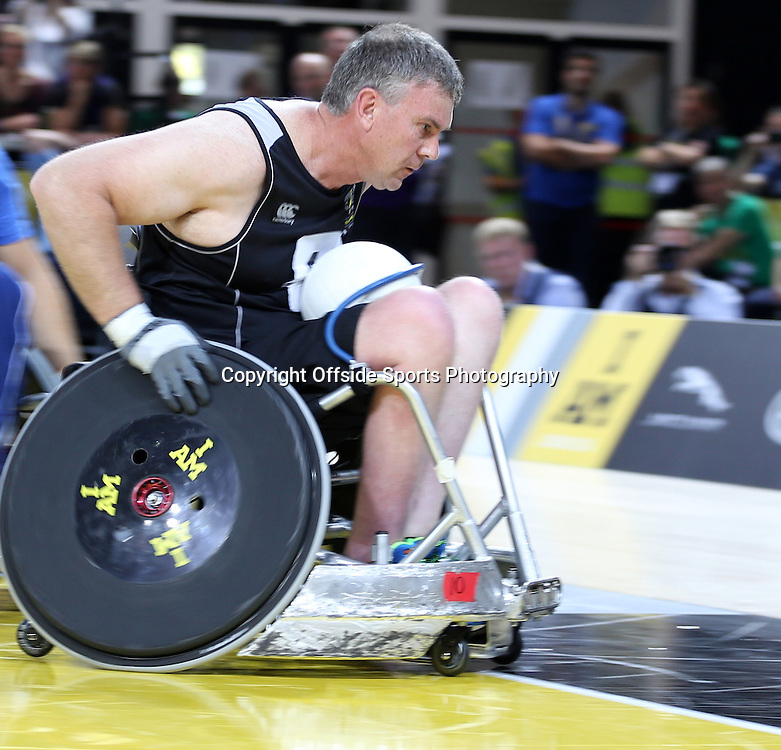 12 September 2014 - Invictus Games Day 2 - Sherriff of New Zealand has his sights set on the touch line for a goal.<br /> <br /> Photo: Ryan Smyth/Offside