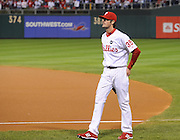 cole hamels of the philadelphia phillies ready to start pitching in the playoffs against the dodgers