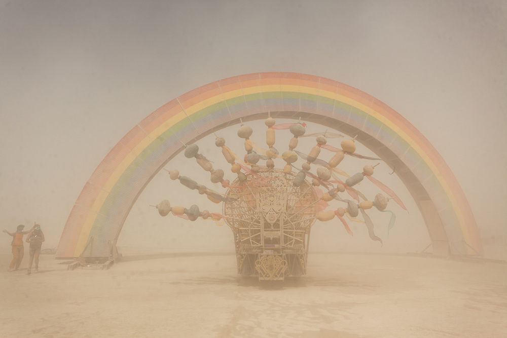 Rainbow Bridge by: Josh Zubkoff from: San Francisco, CA year: 2018 (I love the music that they play on this mutant vehicle. Sometimes I just follow it around when I want a break.) My Burning Man 2018 Photos:<br />