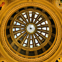 South Dakota Capitol Rotunda Dome in Pierre, South Dakota<br />