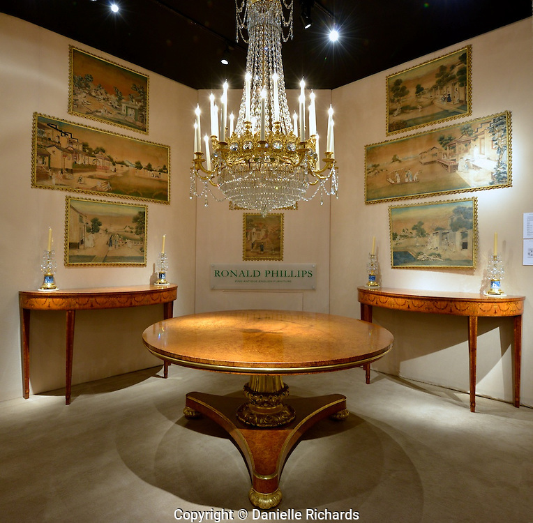 Ronald Phillips display at 2012 New York Fine Art and Antique show.