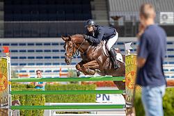 Moerings Bas, NED, Jilsther<br /> Nationaal Kampioenschap KWPN<br /> 6 jarigen springen final<br /> Stal Tops - Valkenswaard 2020<br /> © Hippo Foto - Dirk Caremans<br /> 19/08/2020