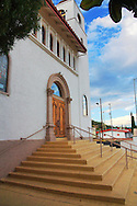 Front entry to the Our Lady of the Blessed Sacrament Catholic Church, in Miami, AZ