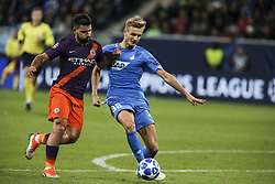 October 2, 2018 - France - Sergio Aguero 10; Stefan Posh 38;  during the UEFA Champions League group F football match between TSG 1899 Hoffenheim and Manchester City at the Rhein-Neckar-Arena in Sinsheim, southwestern Germany, on October 2, 2018. (Credit Image: © Panoramic via ZUMA Press)