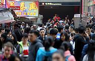 Mong Kok, Friday, March 27, 2015. (TREVOR HAGAN)