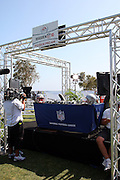 MALIBU, CA - JULY 24:  The NFL Network booth is ready for the competition as former NFL players and celebrities participate in the EA Sports 2009 Madden NFL 10 Pigskin Pro-Am flag football game between the Famers and the Gamers at Malibu Bluffs State Park on Friday, July 24, 2009 in Malibu, California. ©Paul Anthony Spinelli