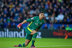 LEICESTER, ENGLAND - Boxing Day Monday, December 26, 2016: Everton's goalkeeper Joel Robles in action against Leicester City during the FA Premier League match at Filbert Way. (Pic by David Rawcliffe/Propaganda)