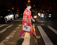 Red Plaid Coat, Outside Marc Jacobs FW2018
