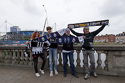 June 2, 2017 - Cardiff, South Glamorgan, Wales - Juventus supporters outside the National Stadium of Cardiff on the eve of the UEFA Champions League Final match between Real Madrid and Juventus at the National Stadium of Wales, Cardiff, Wales on 2 June 2017. (Credit Image: © Giuseppe Maffia/NurPhoto via ZUMA Press)