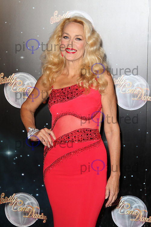LONDON - SEPTEMBER 11: Jerry Hall attended the Strictly Come Dancing Launch at the BBC Television Centre, London, UK. September 11, 2012. (Photo by Richard Goldschmidt)