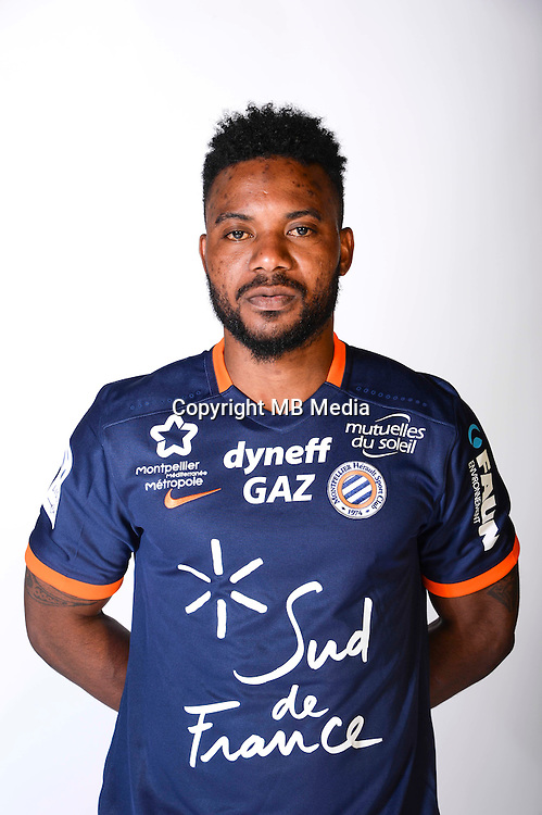 Stephane Sessegnon during the photocall of Montpellier for new season of Ligue 1 on September 27th 2016 in Montpellier<br /> Photo : Mhsc / Icon Sport