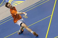 Dominik Stipsits of Austria during match at Slovenia Open Badminton tournament 2012, on May 10, 2012, in Medvode, Slovenia. (Photo by Grega Valancic / Sportida.com)
