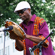 Musician Leonard Doc Gibbs performing with Lynn Riley in front of a large crowd at the 26th annual duPont Clifford Brown Jazz Festival Thursday, June 19, 2014, at Rodney Square Park in Wilmington, DEL. <br /> <br /> &ldquo;The Clifford Brown Jazz Festival is a staple of Wilmington&rsquo;s performing arts culture,&rdquo; said Mayor Dennis P. Williams. &ldquo;The City is excited to celebrate the 26th anniversary and I hope the community gets involved and enjoys all of the many activities the festival has to offer.&rdquo;<br /> <br /> The Clifford Brown Jazz festival is the largest FREE out door music event on the east coast of the United States.