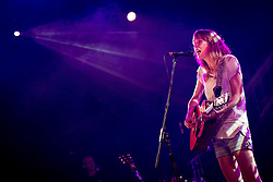© Licensed to London News Pictures . 19/07/2013 . Suffolk , UK . Beth Orton performs on the BBC6 Music Stage . The Latitude music and culture festival in Henham Park , Southwold . Photo credit : Joel Goodman/LNP