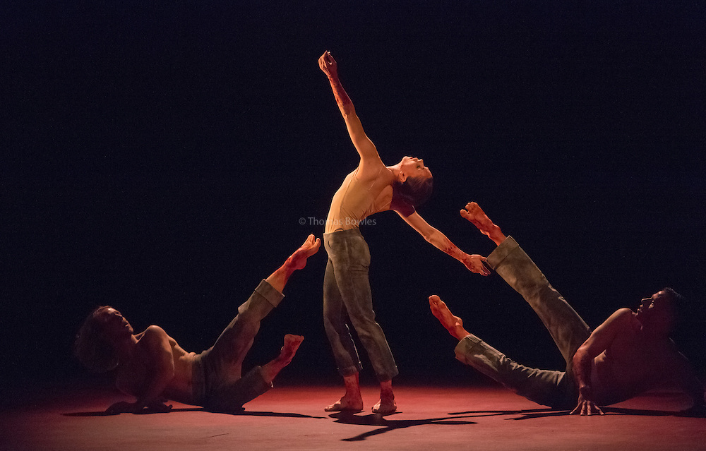 Natalia Osipova performing Qutb Choreographed by Sidi Larbu Cherkaoui<br /> <br /> Natalia Osipova, Jason Kittelberger and James O'hara