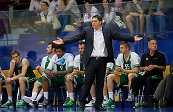 Sasa Filipovski, head coach of Olimpija during basketball match between KK Helios Domzale and KK Union Olimpija Ljubljana in 2nd semifinal of Telemach Slovenian Champion League 2011/12, on May 10, 2012 in Arena Komunalni center, Domzale, Slovenia. Union Olimpija defeated Helios 81-78 after overtime and qualified to finals. (Photo by Vid Ponikvar / Sportida.com)