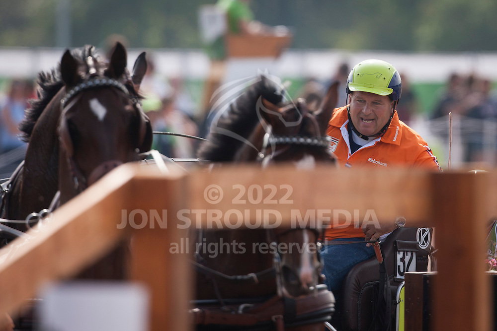 Theo Timmerman, (NED), Boy, Dani, Draco, Mister, Rodina - Driving Marathon - Alltech FEI World Equestrian Games&trade; 2014 - Normandy, France.<br /> &copy; Hippo Foto Team - Dirk Caremans<br /> 06/09/14
