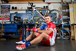 Aljaz Hocevar of Cycling Team Adria Mobil poses for a portrait session ahead of the 2014 road season on February 25, 2014 in Cesca vas at Novo mesto, Slovenia. Photo by Vid Ponikvar / Sportida