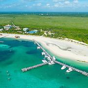 Aerial view of Playa Maroma. Riviera Maya, Mexico.