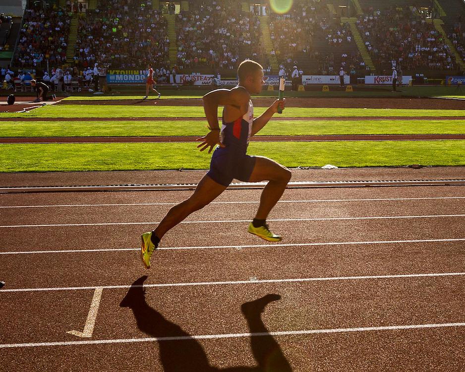 mens' 4x100 meter relay heat 1, Great Britain