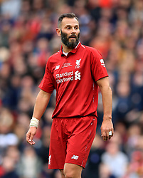 Liverpool's Patrik Berger during the Legends match at Anfield Stadium, Liverpool.