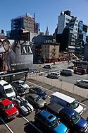 New york. Chelsea district. parking lot elevated view/ Parking vue d'en haut a Chelsea