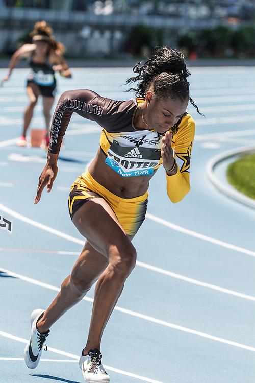 adidas Grand Prix Diamond League Track & Field: womens 400 B, Deedee Trotter, USA