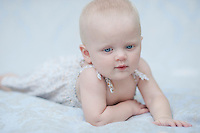 Ayla's 9 month portrait session.  © Karen Bobotas Photographer