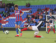 Luka Tankulic tackles Chung-yong Lee - Crystal Palace v Dundee - Julian Speroni testimonial match at Selhurst Park<br /> <br />  - © David Young - www.davidyoungphoto.co.uk - email: davidyoungphoto@gmail.com