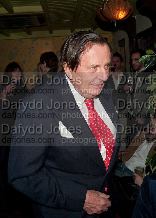 BARRY HUMPHRIES, party after the press night of 'The Last Cigarette' at  the Trafalgar Studios. Party at Walkers, Craig's Court, Whitehall. London.  28 April 2009