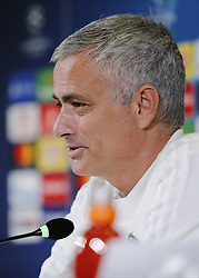November 6, 2018 - Turin, Italy - Jos Mourinho during Champions League press conference before the match  between Juventus v Manchester United, in Turin, on November 6, 2018. (Credit Image: © Loris Roselli/NurPhoto via ZUMA Press)