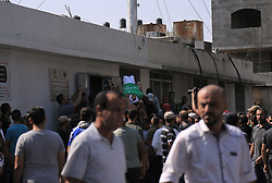 September 29, 2018 - Gaza City, The Gaza Strip, Palestine - Palestinians in Gaza city mourners the bodies of Palestinians killed by Israeli troops yesterday during protest, Israeli troops kills 7 Palestinians, 2 of them children and wounded dozens. (Credit Image: © Samar Abu Elouf/Quds Net News via ZUMA Wire)