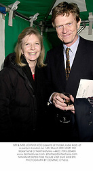 MR & MRS JOHNNY KIDD parents of model Jodie Kidd, at a party in London on 14th March 2001.OMF 102