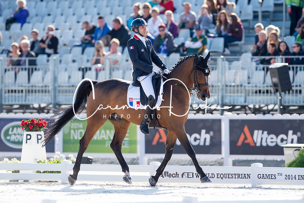 Samuel Catel, (FRA), Mogador de Valange - Team Competition Grade III Para Dressage - Alltech FEI World Equestrian Games&trade; 2014 - Normandy, France.<br /> &copy; Hippo Foto Team - Jon Stroud <br /> 25/06/14