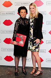 """Lulu Guinness Paint Project.<br /> (R-L) Lauren Laverne & Lulu Guinness attends the """"Lulu Guinness paint project in collaboration with beautiful crime and their artist Joseph Steele"""" Held at the old sorting office, Oxford street,<br /> London, United Kingdom<br /> Thursday, 11th July 2013<br /> Picture by Chris  Joseph / i-Images"""