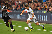 Daniel James (20) of Swansea City on the attack during the EFL Sky Bet Championship match between Swansea City and Reading at the Liberty Stadium, Swansea, Wales on 27 October 2018.