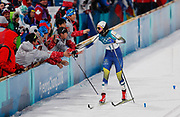 PYEONGCHANG-GUN, SOUTH KOREA - FEBRUARY 13: Stina Nilsson of Sweden cheers to volonteers during the Womens Individual Sprint Classic Finals on day four of the PyeongChang 2018 Winter Olympic Games at Alpensia Cross-Country Skiing Centre on February 13, 2018 in Pyeongchang-gun, South Korea. Photo by Nils Petter Nilsson/Ombrello               ***BETALBILD***