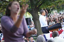 Obama campaign rally at Franklin & Marshall College, Lancaster, PA September 4, 2008 Barack Hussein Obama, Junior Senator