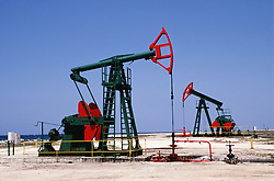 Oil wells on the north Cuban coast between Havana and Jibacoa,