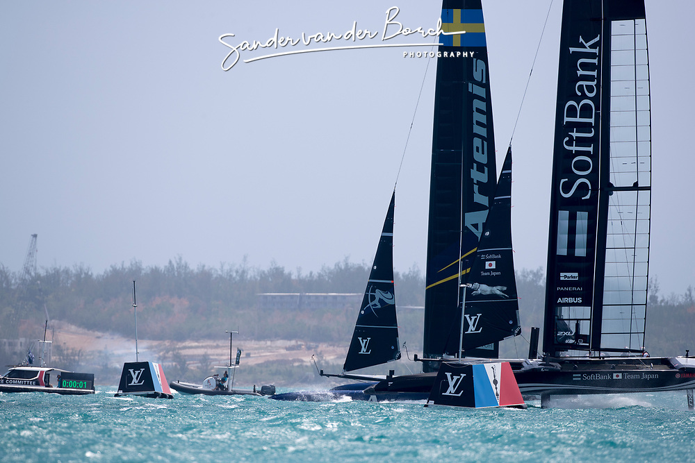 Final day of the Louis Vuitton America's Cup Semi-finals. Artemis Racing wins their final race and beats  Softbank Team Japan 5-3.  9th of June, 2017, Bermuda