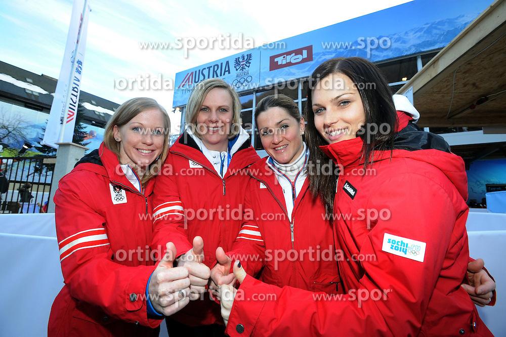13.02.2014, Austria Tirol House, Krasnaya Polyana, RUS, Sochi, 2014, im Bild STERZ HOSP GÖRGL FENNINGER // STERZ HOSP GÖRGL FENNINGER during the Olympic Winter Games Sochi 2014 at the Austria Tirol House in Krasnaya Polyana, Russia on 2014/02/14. EXPA Pictures © 2014, PhotoCredit: EXPA/ Erich Spiess